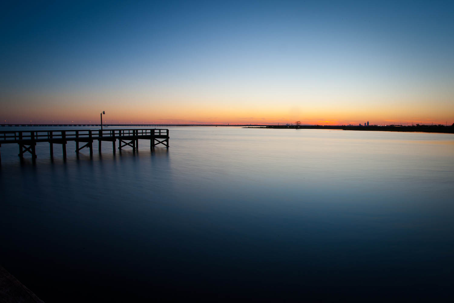 Fishing pier at Meaher State Park near Spanish Fort, Alabama. Photo by Outdoor Alabama/Billy Pope.