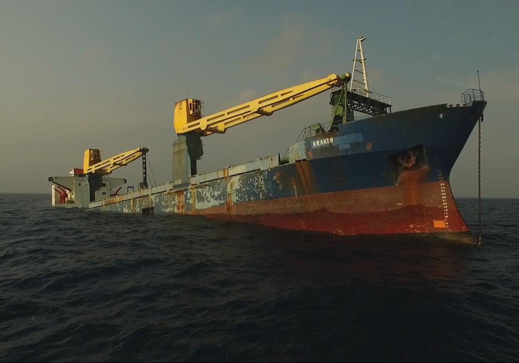 kraken side view before sinking