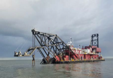 Construction Almost Complete at Louisiana Barrier Island